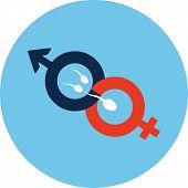 picture of fertilizer  - Male and Female Symbol  - JPG