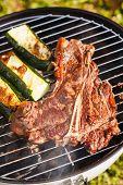 picture of flank steak  - steak on grill - JPG