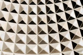 stock photo of triangular pyramids  - A nice pattern with many small pyramids - JPG