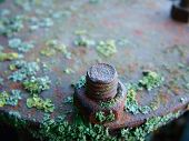 picture of hematite  - a rusty bolt and nut corroded by salt water - JPG