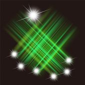 pic of meteors  - Design background beautiful green meteor shower abstract - JPG