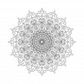 Постер, плакат: Mandala Ethnic decorative elements Hand drawn background Islam Arabic Indian ottoman motifs