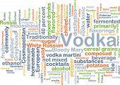picture of vodka  - Background concept wordcloud illustration of vodka - JPG
