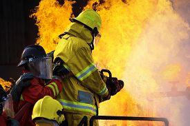 image of firefighter  - Firefighters Training - JPG