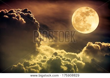 Nighttime Sky With Clouds And