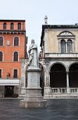 picture of alighieri  - The Statue Of Dante Alighieri In Verona - JPG