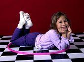 Girl With Hoola-hoop poster