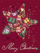 stock photo of merry chrismas  - christmas star - JPG