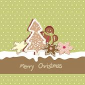 christmas card with cookies