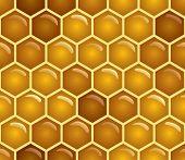 stock photo of honey-bee  - Vector honey background  - JPG