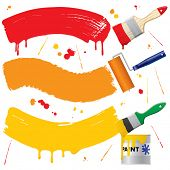 picture of paint brush  - Vector painted banners  - JPG
