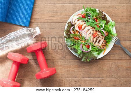 poster of Fitness, Healthy Salad, Diet And Fitness Lifestyle