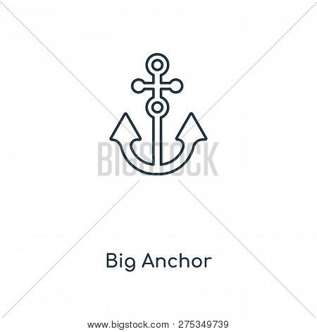 Big Anchor Icon In Trendy
