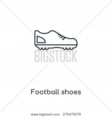 Football Shoes Icon In Trendy