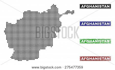 Dot Vector Abstract Afghanistan Map