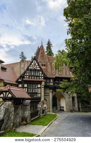 Entrance Park Peles Castle