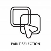 Paint Selection Icon Isolated On White Background. Paint Selection Icon Simple Sign. Paint Selection poster
