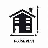 House Plan Icon Isolated On White Background. House Plan Icon Simple Sign. House Plan Icon Trendy An poster