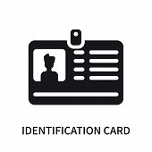 Identification Card With Picture Icon Isolated On White Background. Identification Card With Picture poster