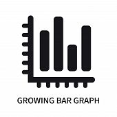 Growing Bar Graph Icon Isolated On White Background. Growing Bar Graph Icon Simple Sign. Growing Bar poster