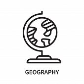 Geography Icon Isolated On White Background. Geography Icon Simple Sign. Geography Icon Trendy And M poster