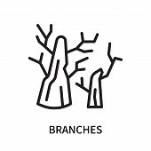Branches Icon Isolated On White Background. Branches Icon Simple Sign. Branches Icon Trendy And Mode poster