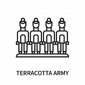 Terracotta Army Icon Isolated On White Background. Terracotta Army Icon Simple Sign. Terracotta Army poster