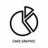 Cake Graphic Icon Isolated On White Background. Cake Graphic Icon Simple Sign. Cake Graphic Icon Tre poster