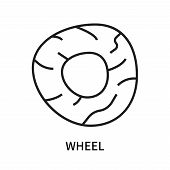 Wheel Icon Isolated On White Background. Wheel Icon Simple Sign. Wheel Icon Trendy And Modern Symbol poster