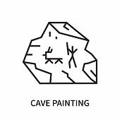 Cave Painting Icon Isolated On White Background. Cave Painting Icon Simple Sign. Cave Painting Icon  poster