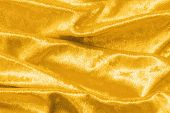 Gold Velvet Background Or Golden Yellow Velour Flannel Texture Made Of Cotton Or Wool With Soft Fluf poster