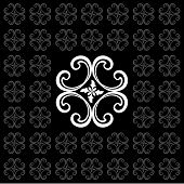 Vector Seamless Ornament Pattern. Pattern Ornament With Black Background. Abstract Ornamental Decora poster