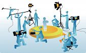 stock photo of work crew  - Film Maker and working staff  - JPG