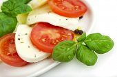 foto of italian food  - closeup of caprese salad - JPG