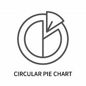 Circular Pie Chart Icon Isolated On White Background. Circular Pie Chart Icon Simple Sign. Circular  poster