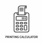 Printing Calculator Icon Isolated On White Background. Printing Calculator Icon Simple Sign. Printin poster