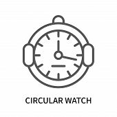 Circular Watch Icon Isolated On White Background. Circular Watch Icon Simple Sign. Circular Watch Ic poster