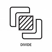 Divide Icon Isolated On White Background. Divide Icon Simple Sign. Divide Icon Trendy And Modern Sym poster