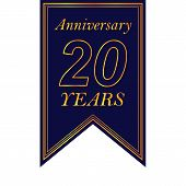 Anniversary, 20 Years Multicolored Icon. Can Be Used For Web, Logo, Mobile App, Ui, Ux poster