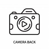 Camera Back Icon Isolated On White Background. Camera Back Icon Simple Sign. Camera Back Icon Trendy poster