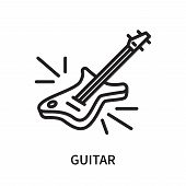 Guitar Icon Isolated On White Background. Guitar Icon Simple Sign. Guitar Icon Trendy And Modern Sym poster