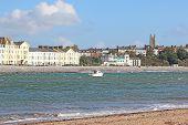Exmouth Seafront From Dawlish Warren Beach, Devon poster