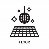 Floor Icon Isolated On White Background. Floor Icon Simple Sign. Floor Icon Trendy And Modern Symbol poster