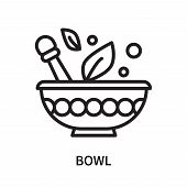 Bowl Icon Isolated On White Background. Bowl Icon Simple Sign. Bowl Icon Trendy And Modern Symbol Fo poster