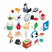 Excellent Health Icons Set. Isometric Set Of 25 Excellent Health Icons For Web Isolated On White Bac poster