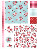 foto of shabby chic  - Vintage Shabby Chic Rose Seamless Patterns - JPG