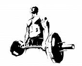 picture of bodybuilder  - the illustration of the bodybuilder in the white background - JPG