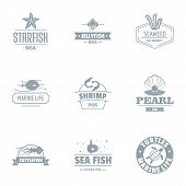Starfish Logo Set. Simple Set Of 9 Starfish Logo For Web Isolated On White Background poster