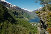 Flydalsjuvet Viewpoint At The Stunning Geiranger Fjord, Norway poster