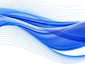 Vector Wavy And Curve Line. Eps10 With Transparency. Abstract Composition With Curve Lines. Blurred  poster